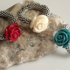Dainty Rose and Silver Ring/SALE buy 2 get 1 free