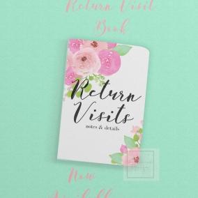 Return Visit Notebook Floral