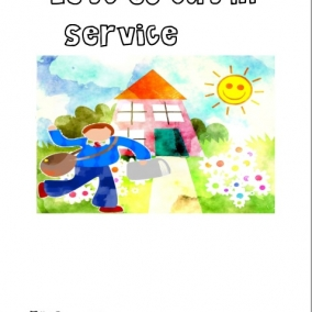 Let's Go Out in Service Coloring Book (Boys)