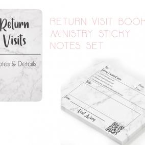 Return Visit Book & Sticky Notes Set
