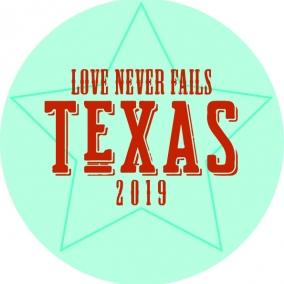 Love Never Fails – Texas Stickers