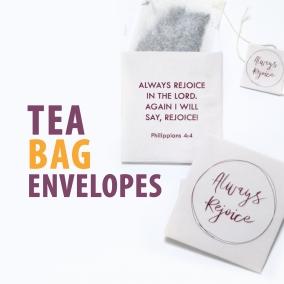 Always Rejoice printable tea bag envelopes | DIY | convention gift | tea pouch | tea wrap | JW