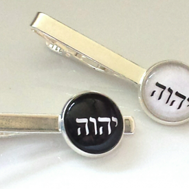 tie bars/tie clips with tetragrammaton