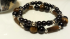 Tigers Eye and Black Pearl Bracelets