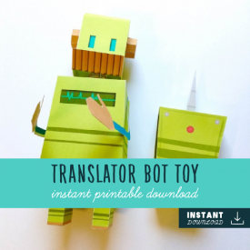 3D Translator Bot Toy – JW Paper Toy Game