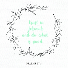 Trust in Jehovah Print Instant Download